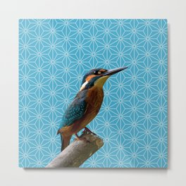 Kingfisher Montage (Norse Blue) Metal Print
