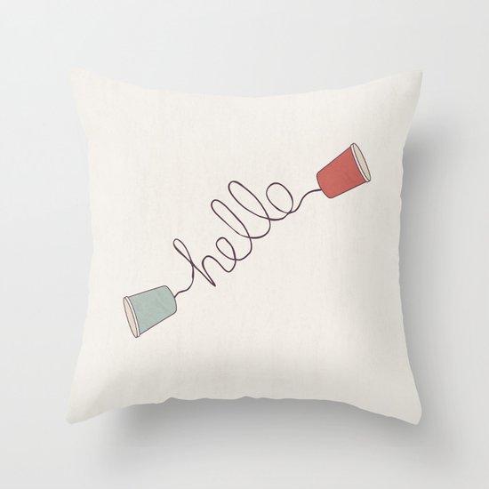 Hello! Throw Pillow