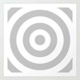 Target (Gray & White Pattern) Art Print