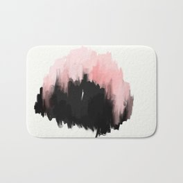 pink cities - an abstract painting in millennial pink and black Bath Mat