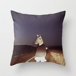Horse Girl Throw Pillow