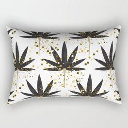 Stylized black palm leaves Rectangular Pillow