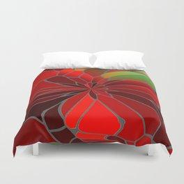 Abstract Poinsettia Duvet Cover