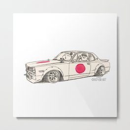 Crazy Car Art 0183 Metal Print