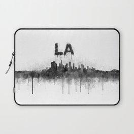 Los Angeles City Skyline HQ v5 BW Laptop Sleeve