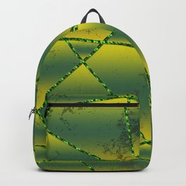 Green gradient abstract shapes Backpack