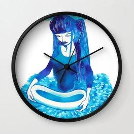 Baby Blue #4 Wall Clock