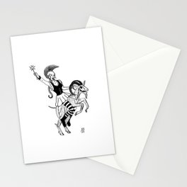 Horror Punk Girl Stationery Cards