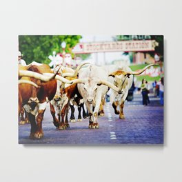 Texas Stockyards Metal Print