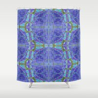 kaleidoscope Shower Curtains featuring Kaleidoscope by 13Halliwell