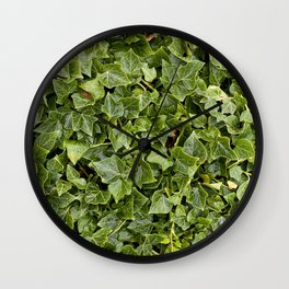 Green Leafs Wall Clock