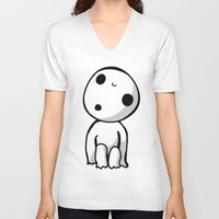 kodama V-neck T-shirts featuring Kodama! by BlondieAu