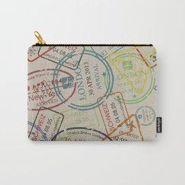 World Traveler Passport Stamp Vintage Design Carry-All Pouch