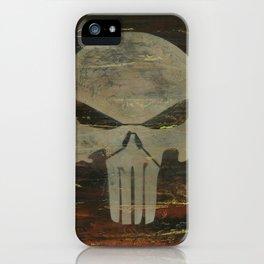 Apocalyptic Punisher painting iPhone Case