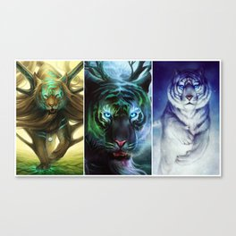 """Godly Tigers"" Canvas Print"