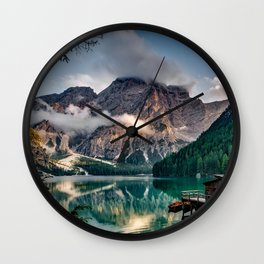 Italy mountains lake Wall Clock