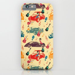 Rockabilly Mania Hot Rods and Pin Ups iPhone Case
