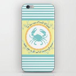 Crabby Inspiration iPhone Skin