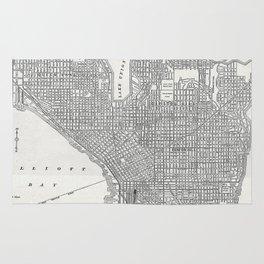 Vintage Seattle Map Rug