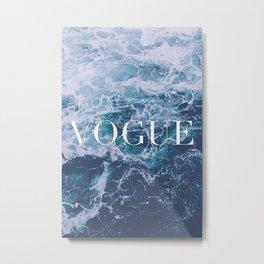 Vogue Waves Metal Print