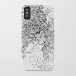 Copenhagen White Map iPhone Case