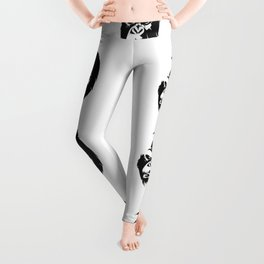 Angry Gorillas Pattern Leggings