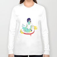 spaceship Long Sleeve T-shirts featuring Spaceship by Eugenia Perez