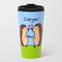 Love you hedgehogs Travel Mug