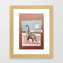 RULING REPTILES AND EDUCATION Framed Art Print