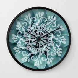 Ornamental Greens Wall Clock