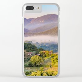 Mist in the valleys, Umbria, Italy Clear iPhone Case