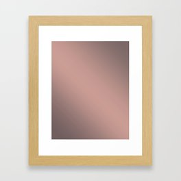Pink cocoa Framed Art Print