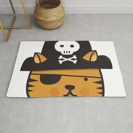 Pirate Cat: Jumpy Icon Rug
