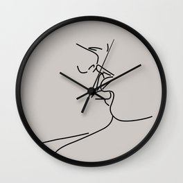 Couple Kiss Illustration No.1 Wall Clock