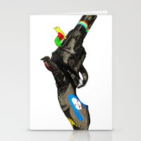 hippy Stationery Cards featuring HIPPY GUN by kasi minami