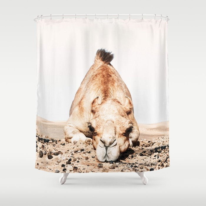 Camille The Camel Shower Curtain