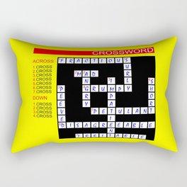 Crossword Rectangular Pillow