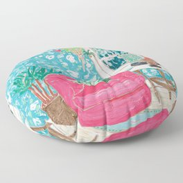 Pink Tub Chair Floor Pillow
