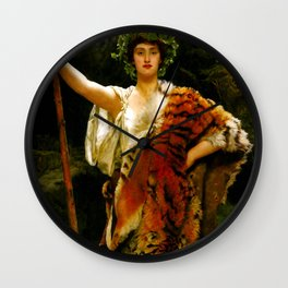 "John Collier ""The Priestess of Bacchus"" Wall Clock"