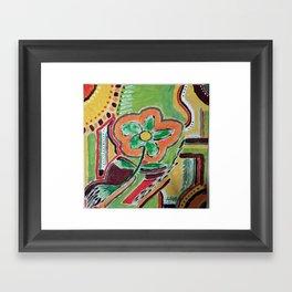 """"""" the flower """" Framed Art Print"""