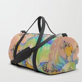 Mermaid With Baby Turtles Drawing Duffle Bag