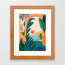 Tropical Evening Framed Art Print
