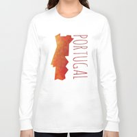 portugal Long Sleeve T-shirts featuring Portugal by Stephanie Wittenburg