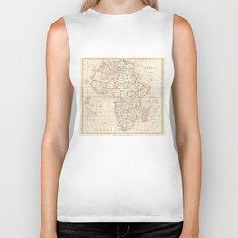 Vintage Map of Africa (1799) Biker Tank