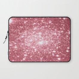 Pink Sparkle Stars Laptop Sleeve