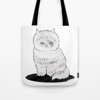 grumpy Tote Bags featuring grumpy by manje