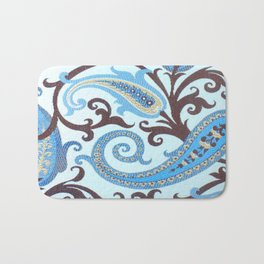 Classic Paisley in Blue Bath Mat