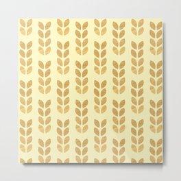 Golden geometric knit inspired Metal Print