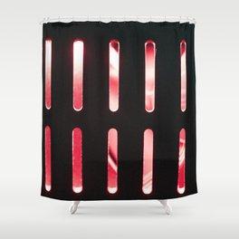 Red radiator Shower Curtain