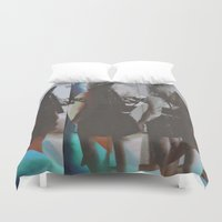 twins Duvet Covers featuring Twins by Jane Lacey Smith